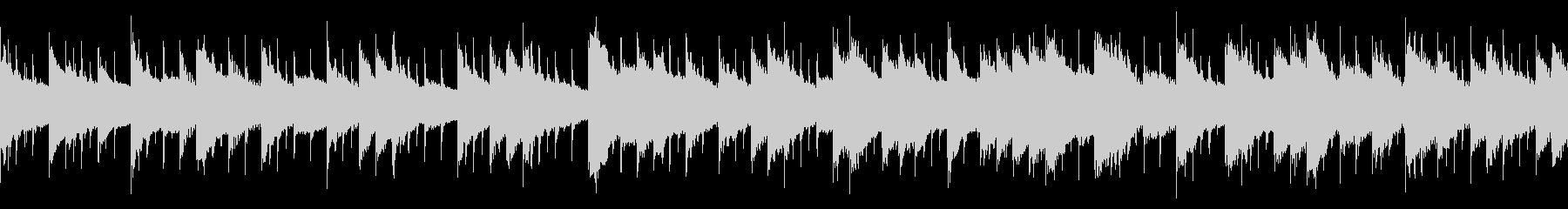 ほんわかした雰囲気のBGM(ループ仕様)の未再生の波形