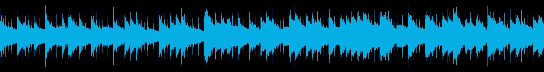 ほんわかした雰囲気のBGM(ループ仕様)の再生済みの波形