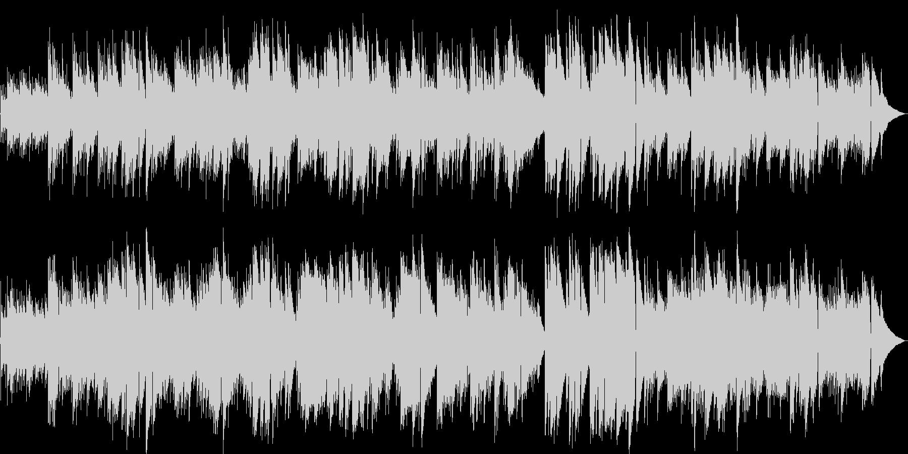 優しい暖かいメロディのギターポップスの未再生の波形