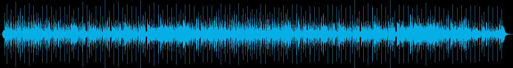 テンポの早い和風のゲーム用BGMの再生済みの波形