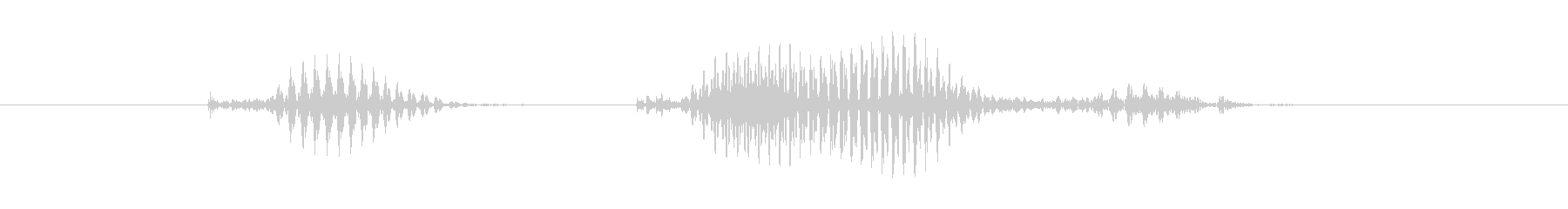 キックオフの未再生の波形