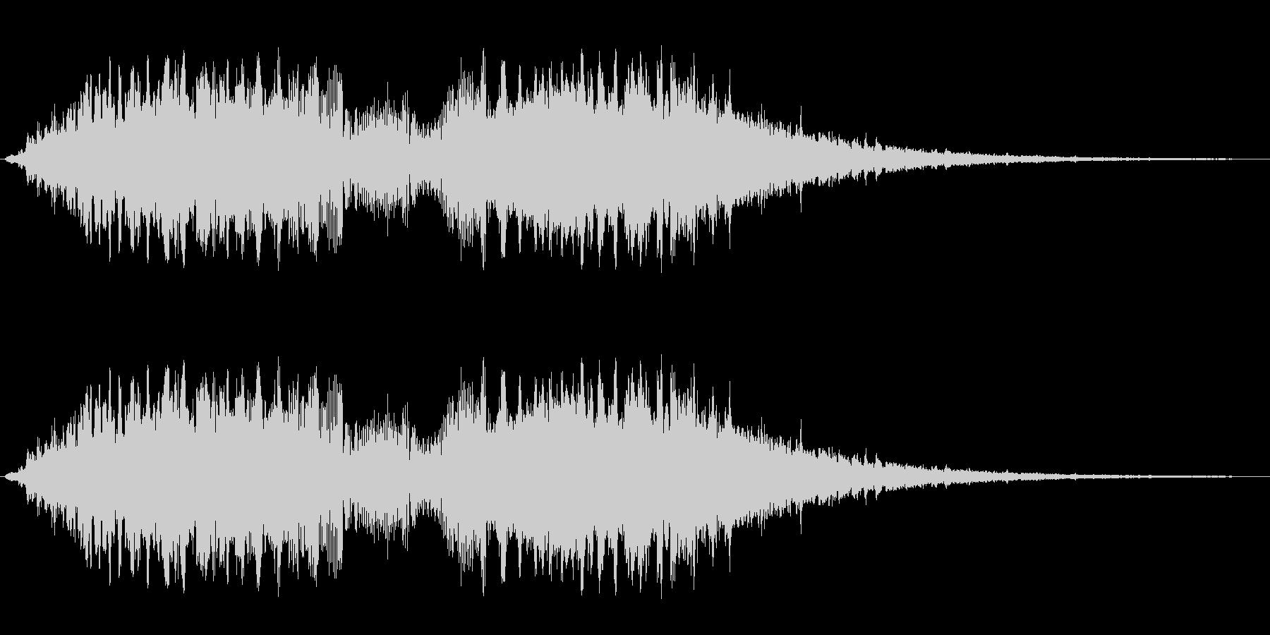 キュルルルシャララン(ワープのイメージ)の未再生の波形