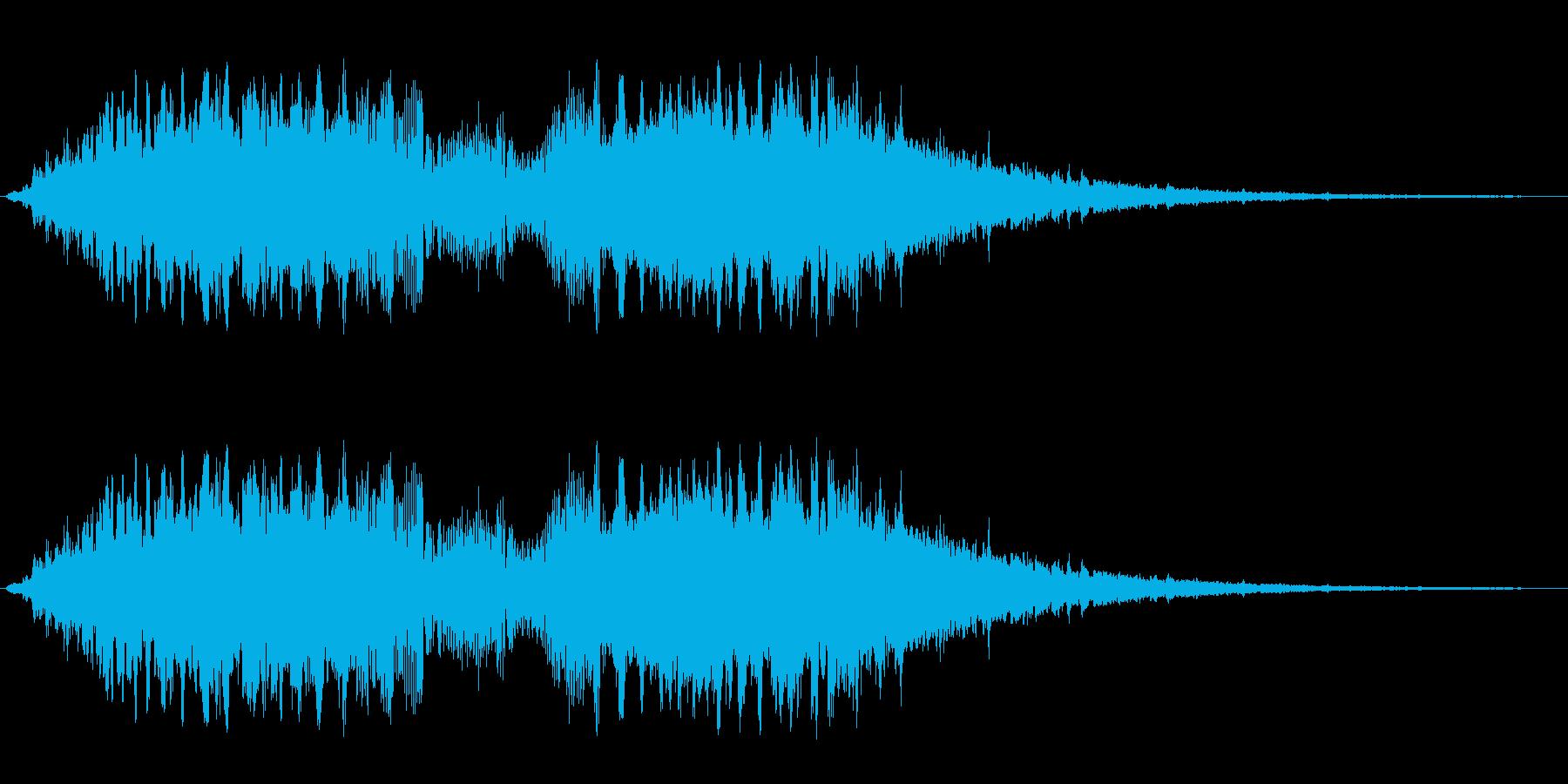 キュルルルシャララン(ワープのイメージ)の再生済みの波形