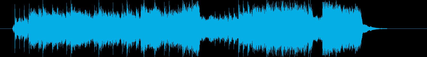 ギターソロがロックンロールなジングルの再生済みの波形