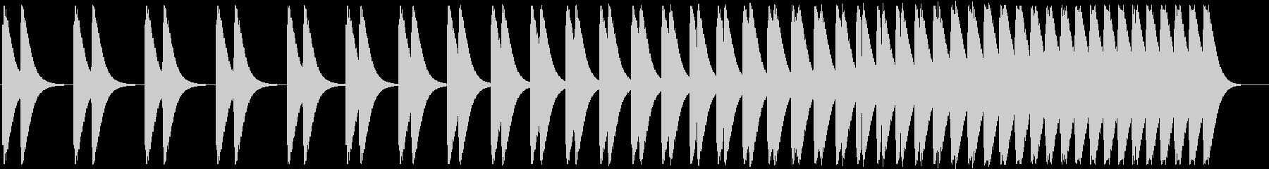 心臓の音(速くなる)の未再生の波形