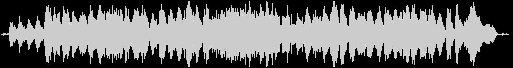 リラックスできる夢心地なBGM&波の音の未再生の波形