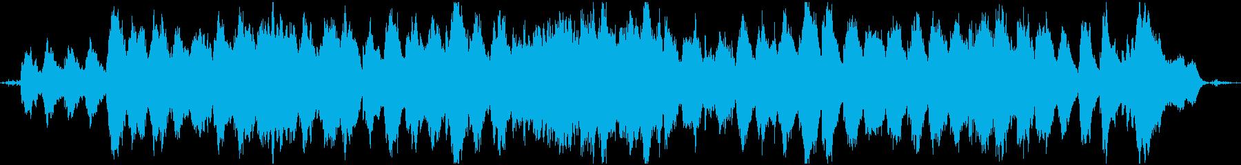 リラックスできる夢心地なBGM&波の音の再生済みの波形