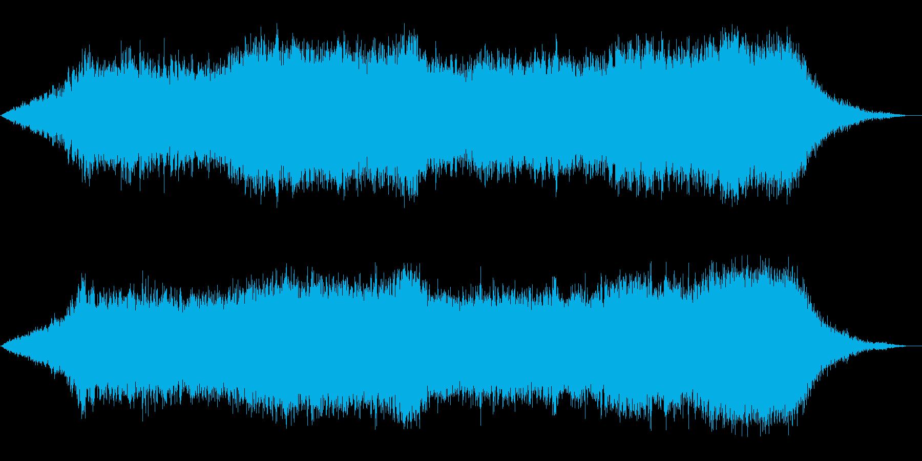 神秘的な雰囲気のアンビエント(背景音)8の再生済みの波形