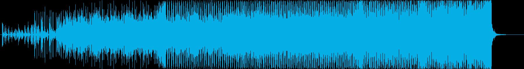 疾走感のある、デジタルギターロックの再生済みの波形