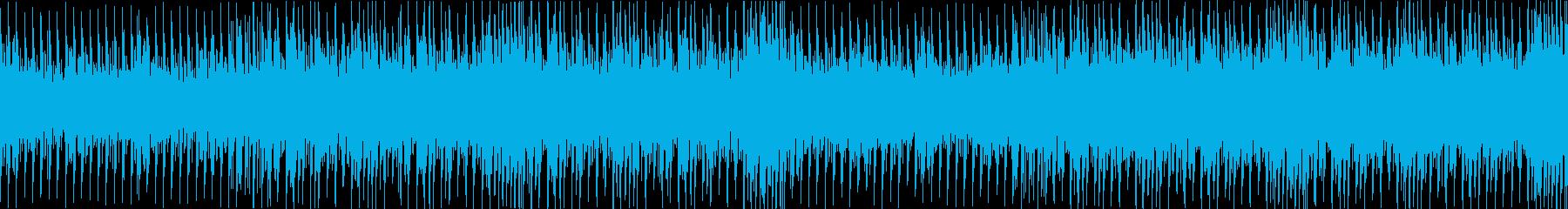 穏やかで幻想的なハウスミュージックの再生済みの波形