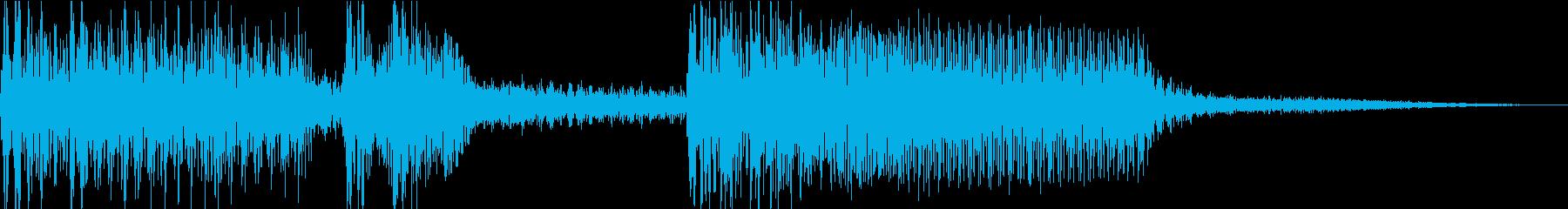 少し懐かしめのヒーローサウンドロゴですの再生済みの波形