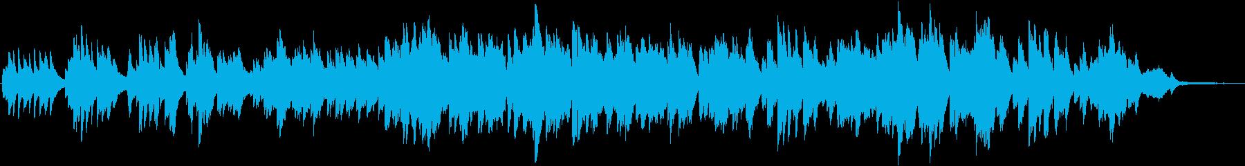 ピアノとケルトの笛の切ないバラードの再生済みの波形