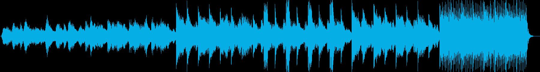 透明感と神秘的なシンセサイザーサウンドの再生済みの波形