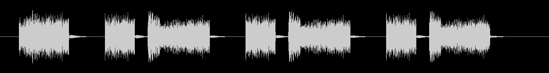 スパッタリングノイズスワイプ4の未再生の波形