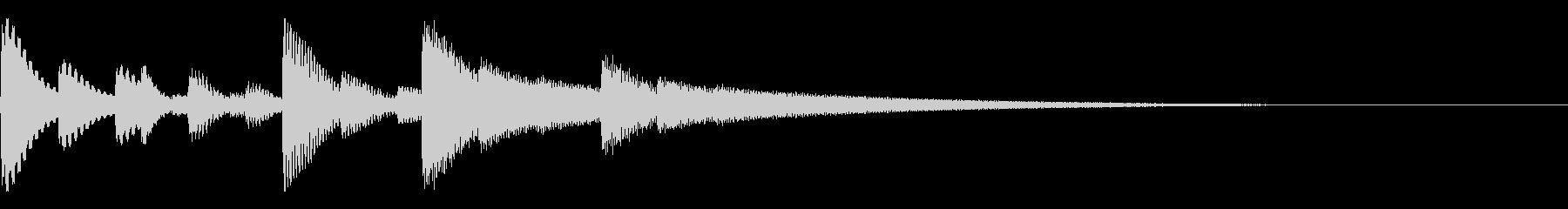 【ぴろりろりん】シンプル入手音の未再生の波形