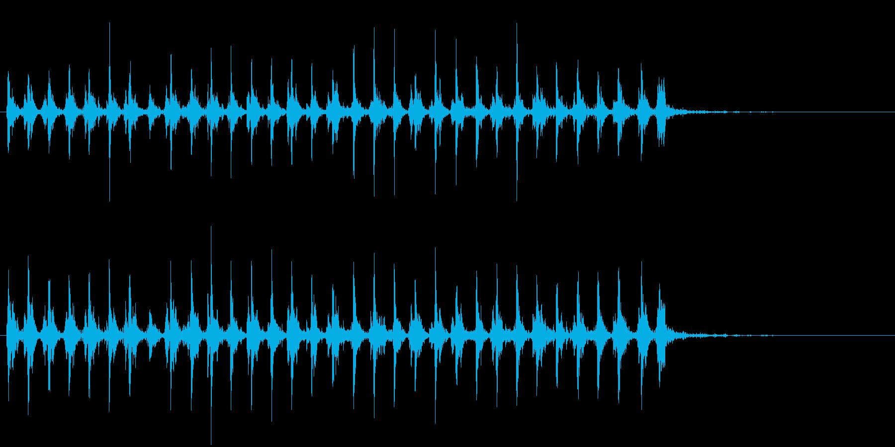 Xmasに最適トナカイベルのループ音03の再生済みの波形