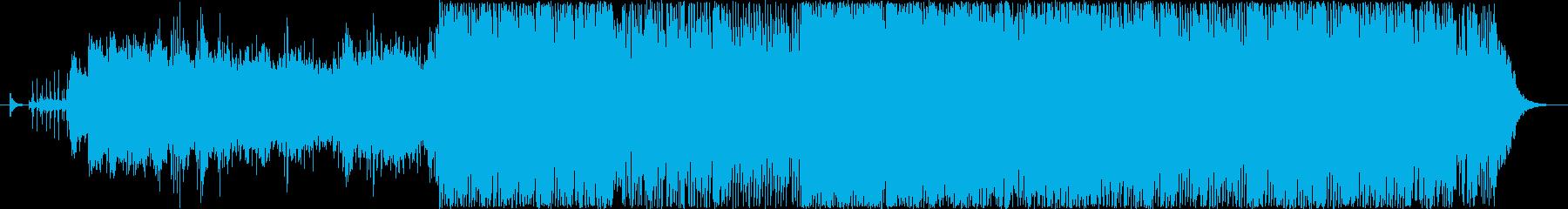 サイバー SF 近未来 ピアノ トランスの再生済みの波形