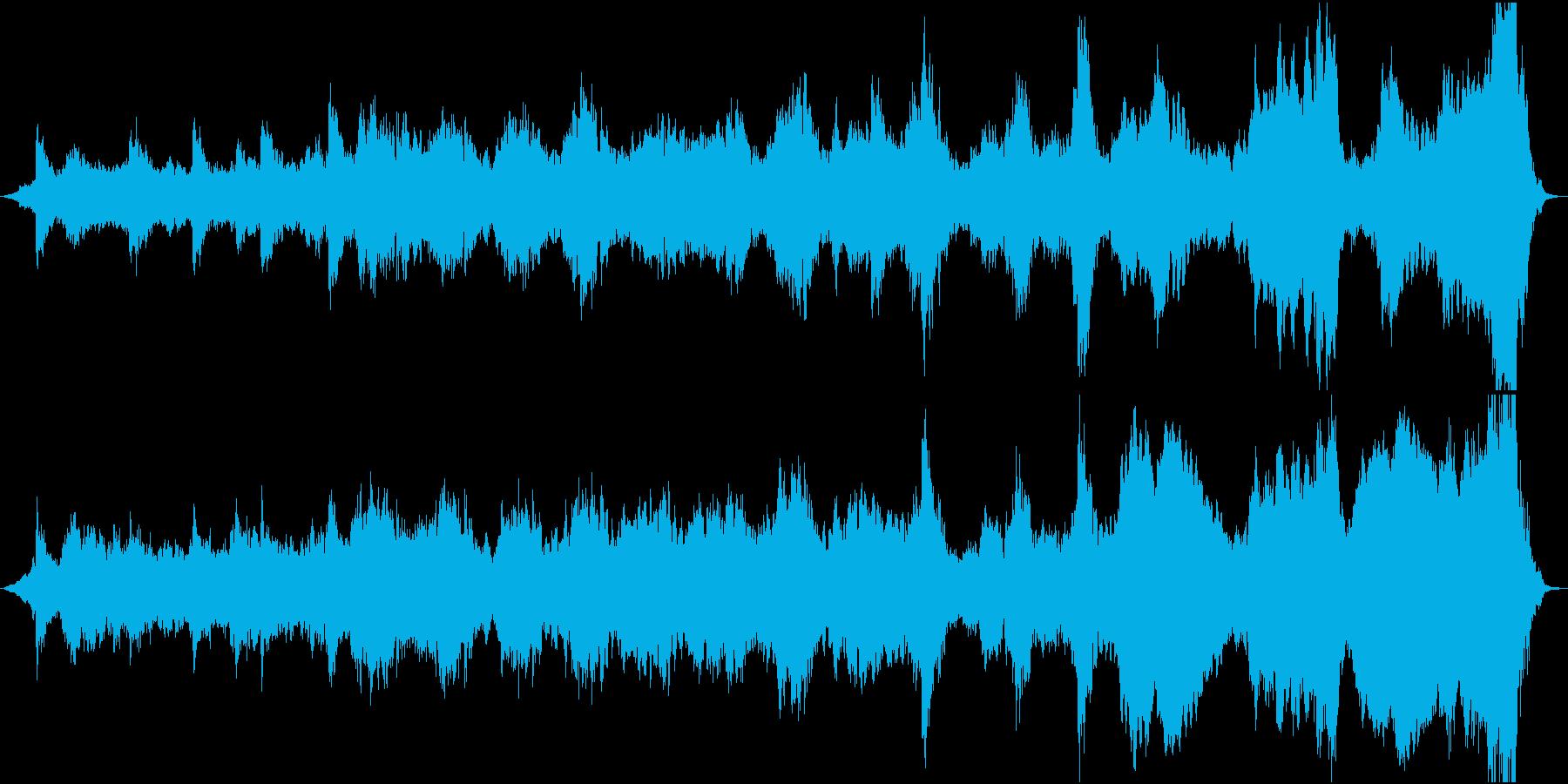 アンビエントミュージック 劇的な ...の再生済みの波形