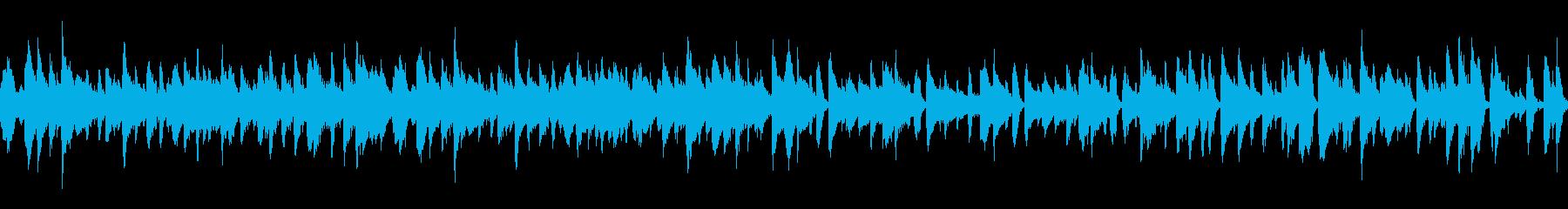 ほのぼのとした陽気なジャズ風楽曲の再生済みの波形