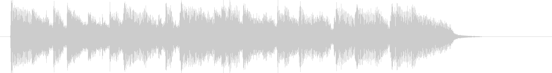 アコースティックバンドのポップなジングルの未再生の波形