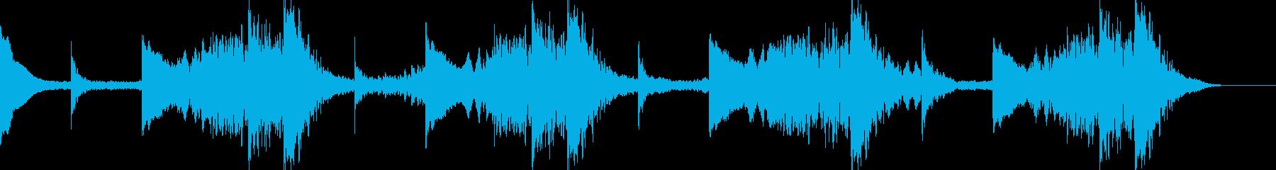 悪いことが起こる前に流れそうな音楽です。の再生済みの波形
