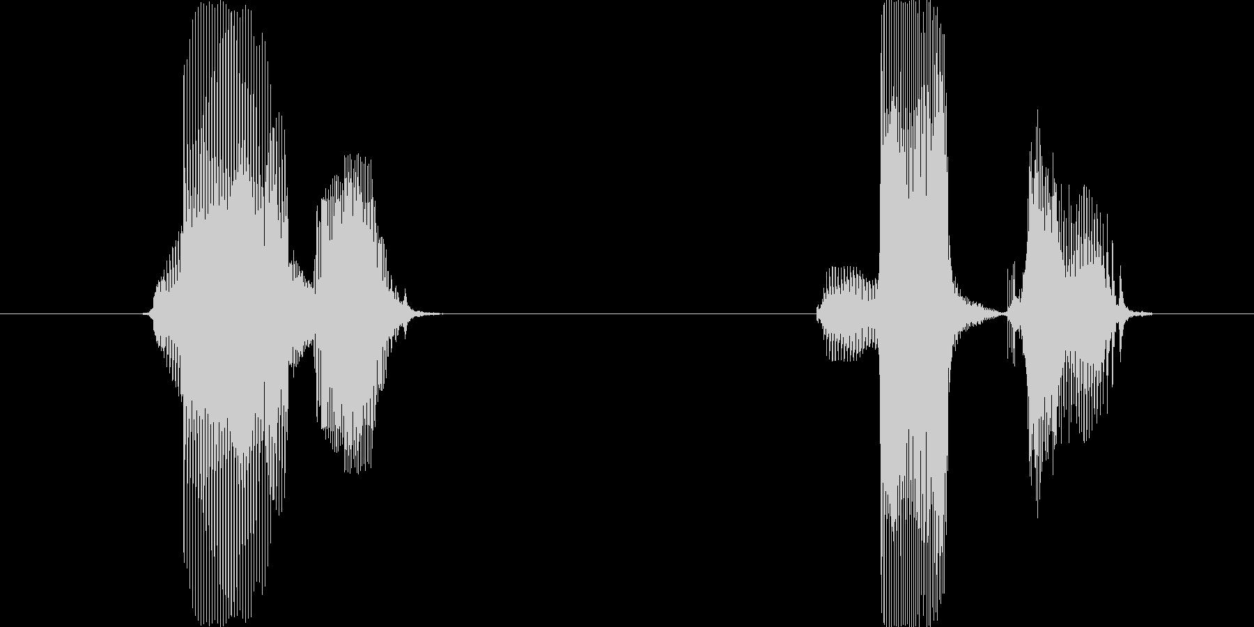 マル、バツの未再生の波形