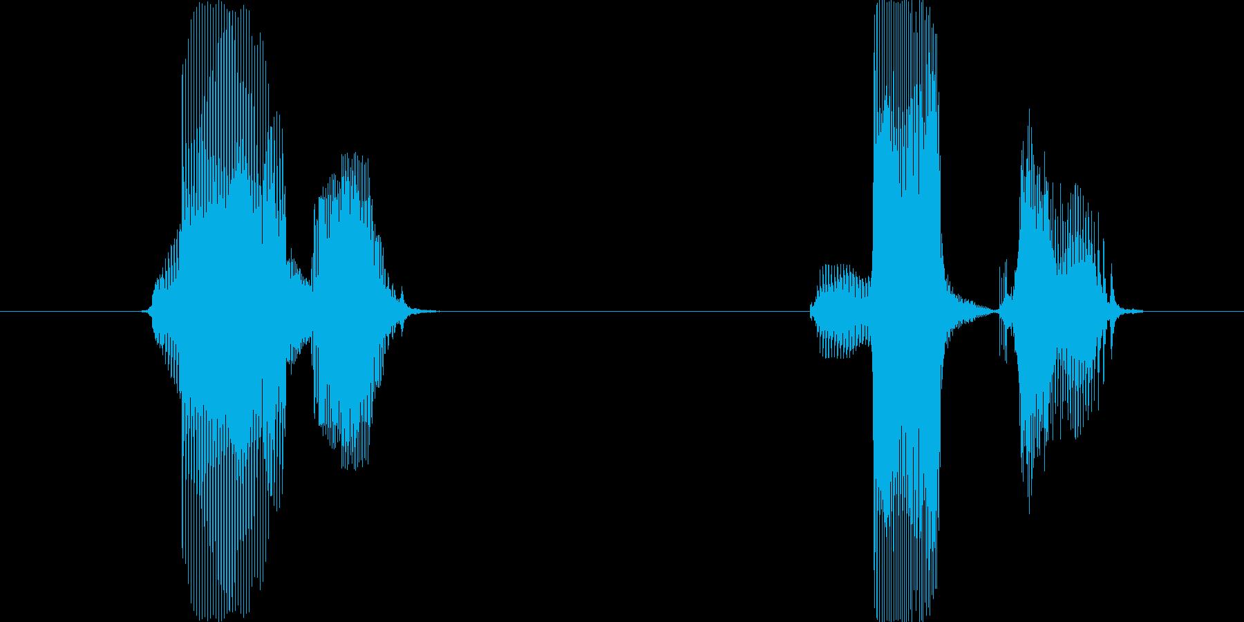 マル、バツの再生済みの波形