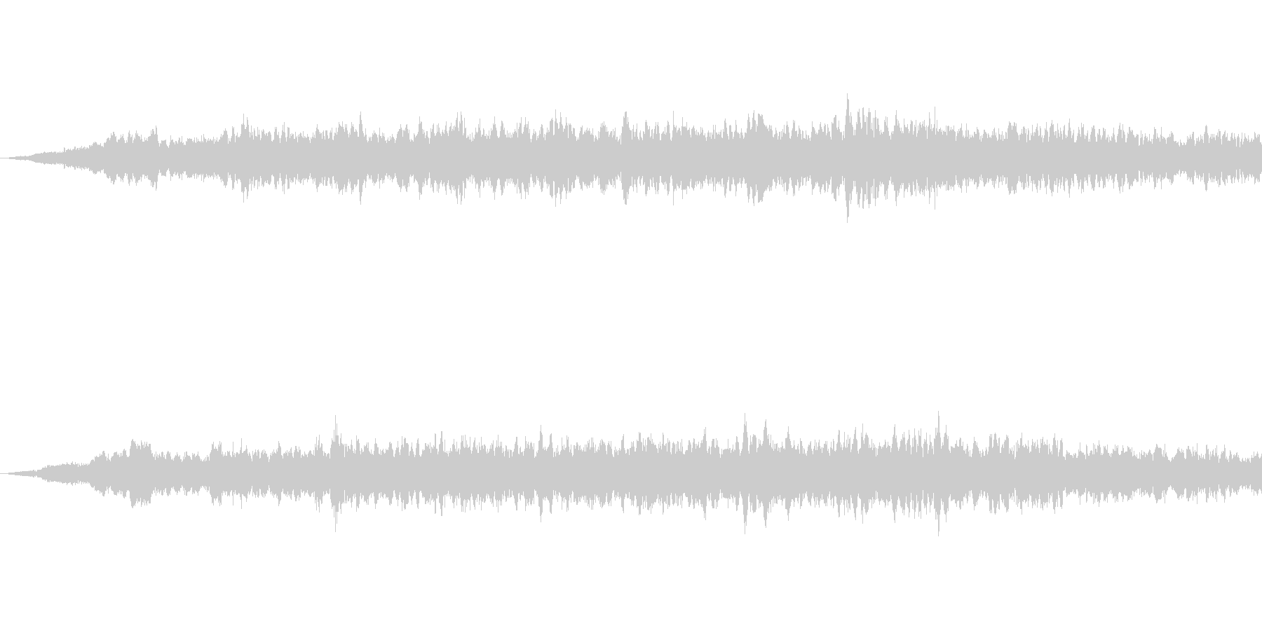 SFっぽい音その2です。「ヒュイーン」の未再生の波形