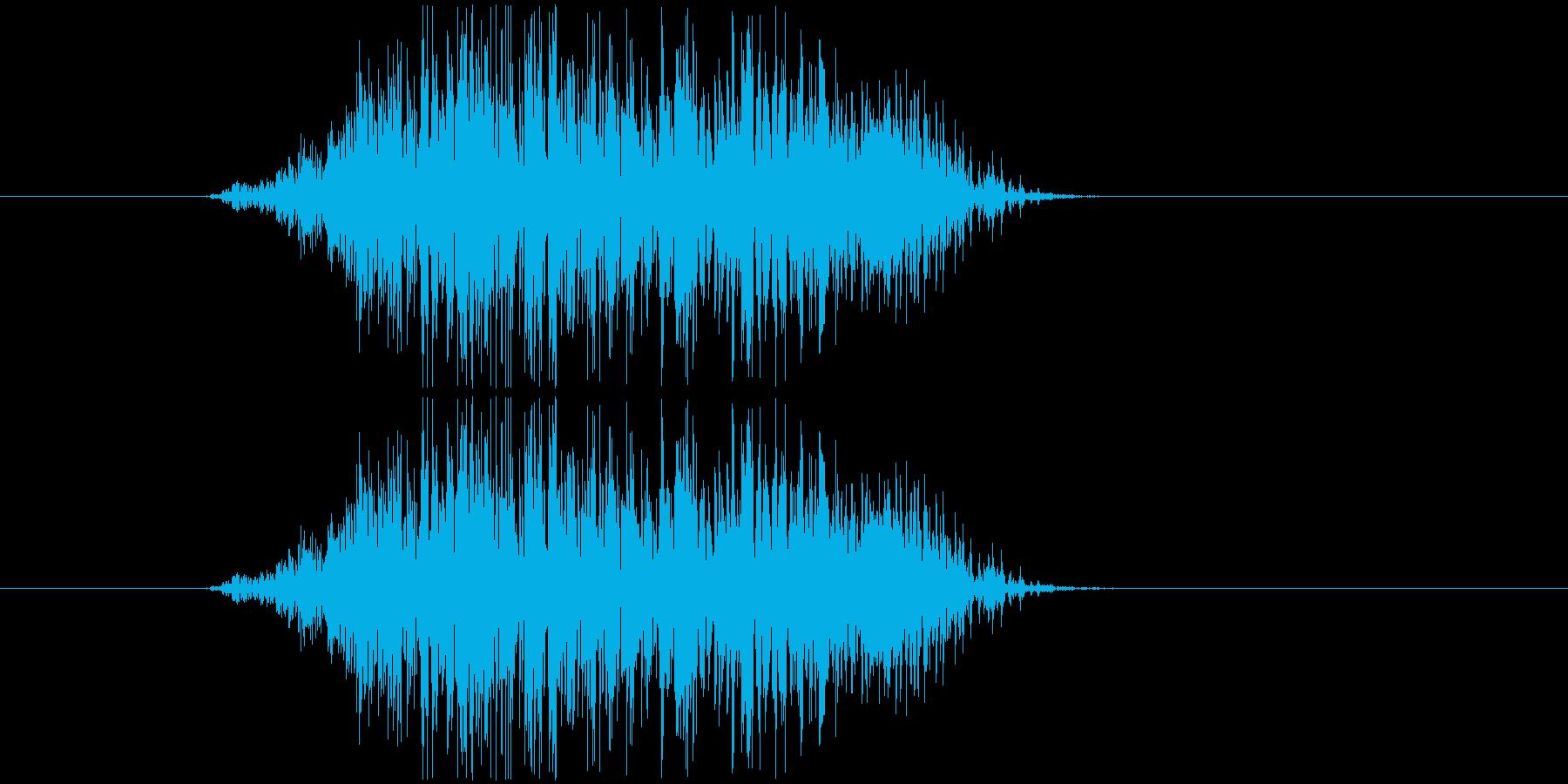 鳴き声 男性コンバットヒットハード06の再生済みの波形
