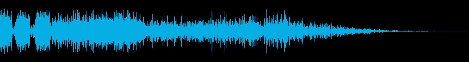 スパッターザップとテールダウンの再生済みの波形