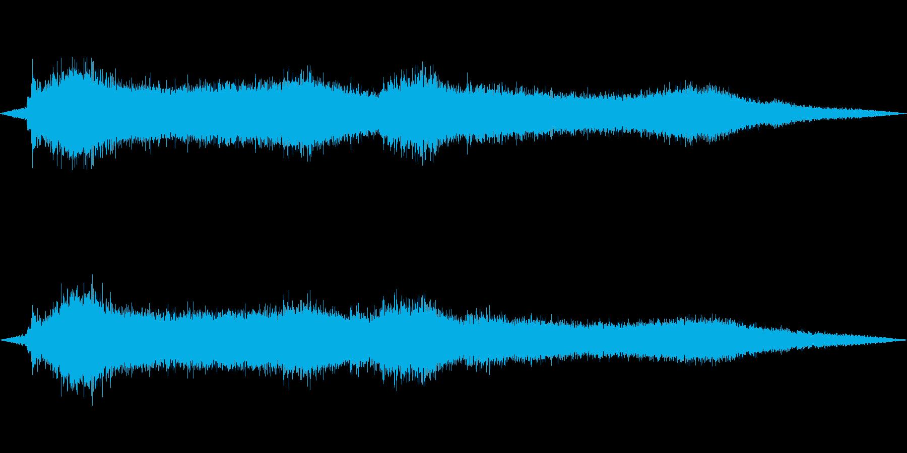 海岸に打ち寄せる海の波の再生済みの波形