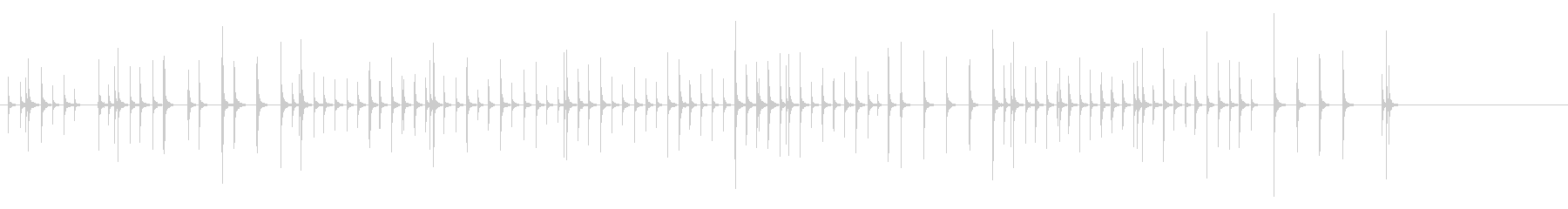 木琴6歌舞伎黒御簾下座音楽和風日本マリンの未再生の波形