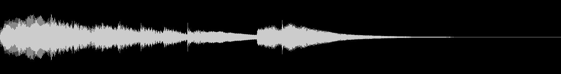 シンプルなチャイムの未再生の波形