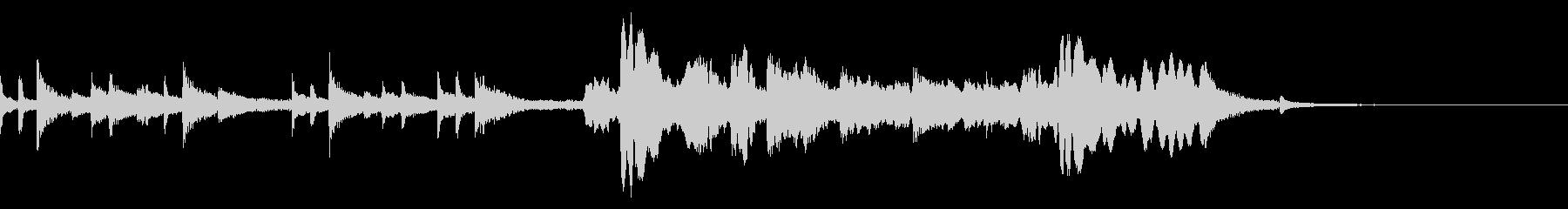 三味線と尺八の和風の曲の未再生の波形