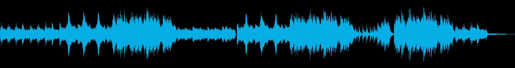 神秘的でノスタルジックなピアノソロの再生済みの波形