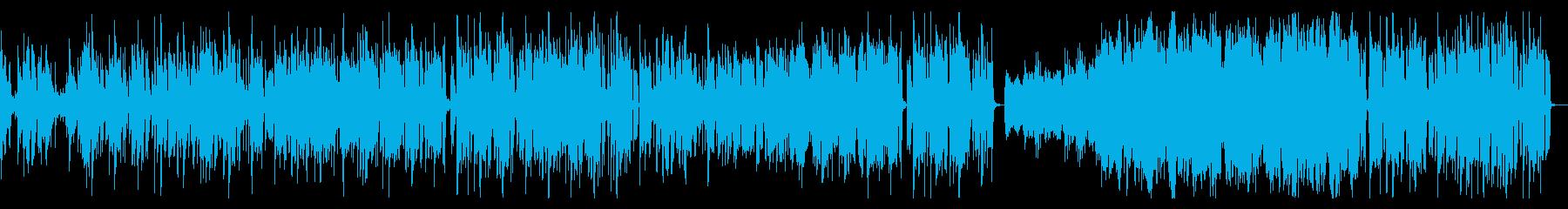 シンセとビートが絡み合うお洒落なポップスの再生済みの波形