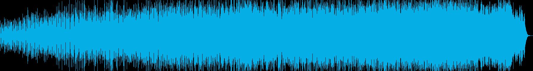 レトロフューチャー風のミニマルテクノの再生済みの波形