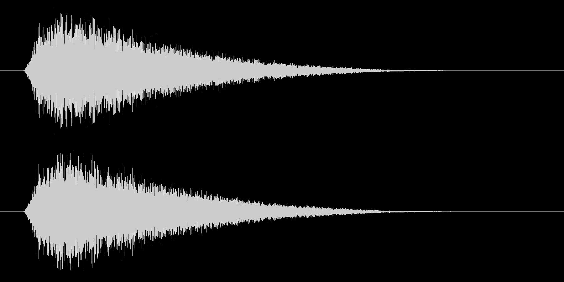 場面転換に使えるポップでかわいい上昇音の未再生の波形