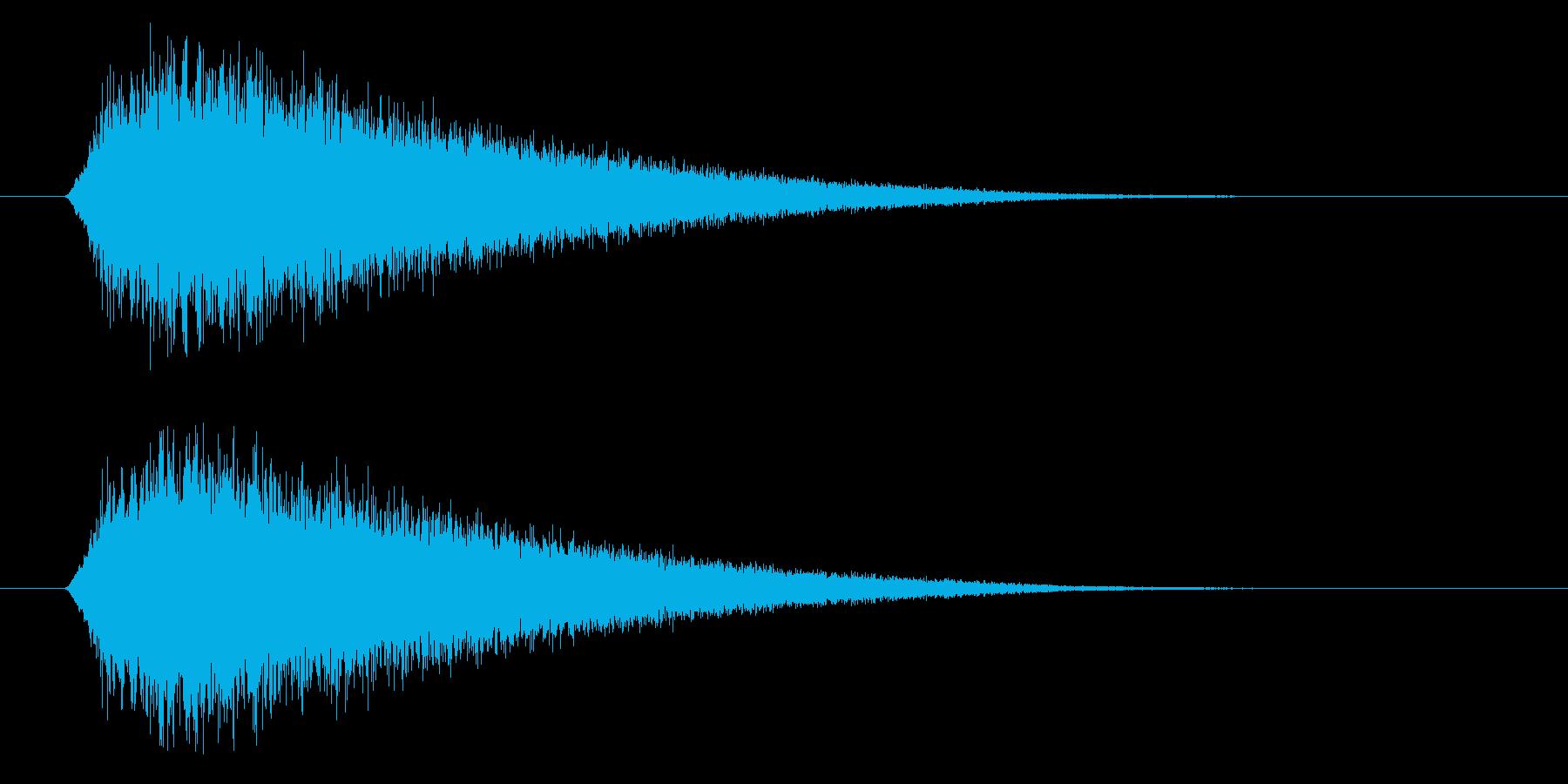 場面転換に使えるポップでかわいい上昇音の再生済みの波形