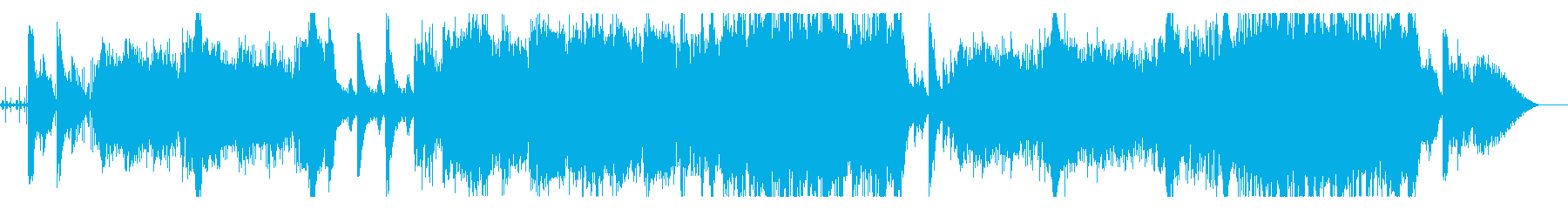 軽快なポップ調のインストゥルメンタルの再生済みの波形