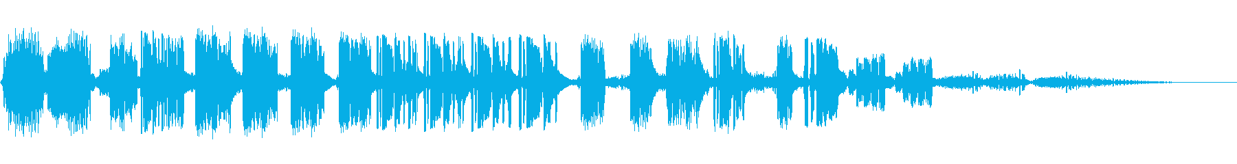 8ビット電子グリッチ:短いシーケンスの再生済みの波形