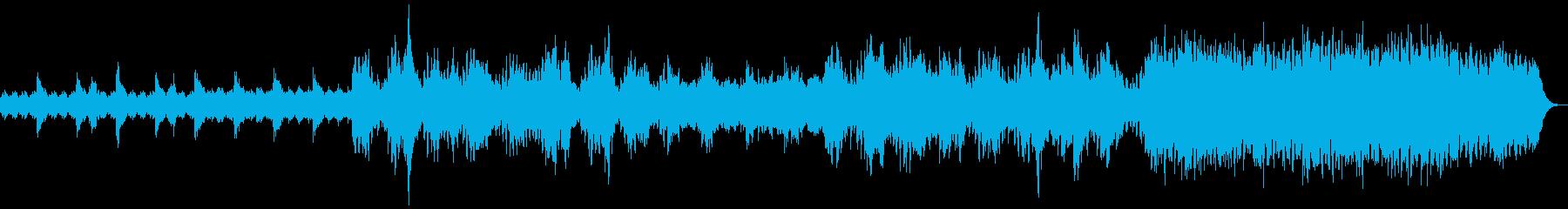 宇宙や深海を思わせる神秘的なBGMの再生済みの波形