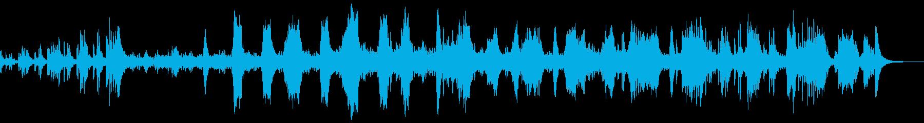 コミカル軽快な映画サントラ風オーケストラの再生済みの波形