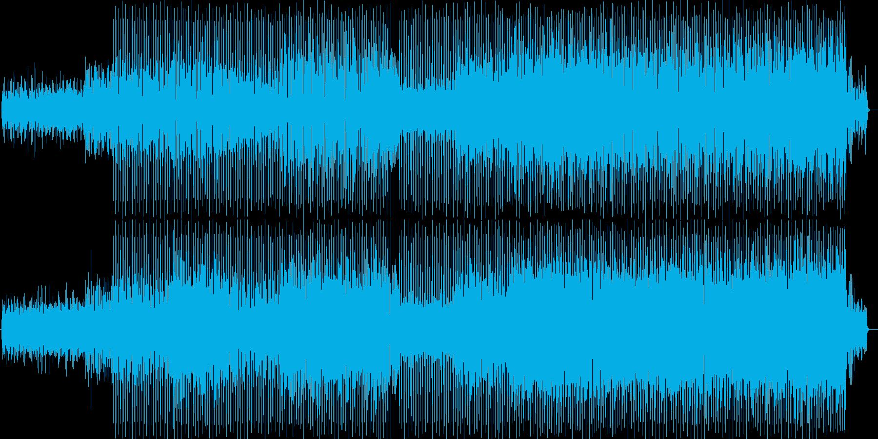 クールで弾けるテクノポップの再生済みの波形