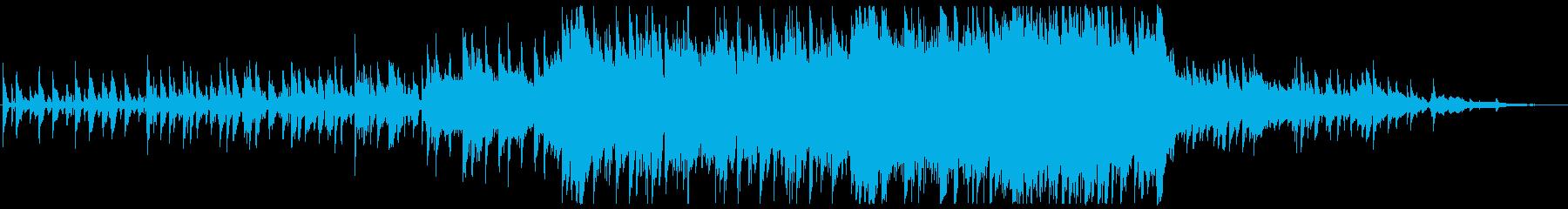アコギが晴れやかな弦楽オーケストラの再生済みの波形