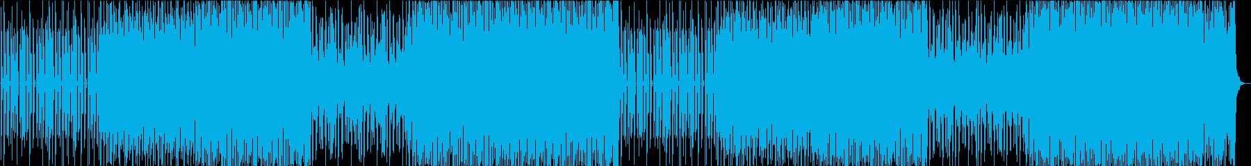 危機を感じるようなテクノBGMの再生済みの波形