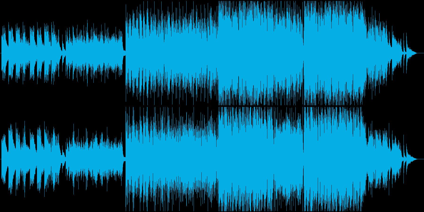 水の中をイメージした透明感あるサウンドの再生済みの波形