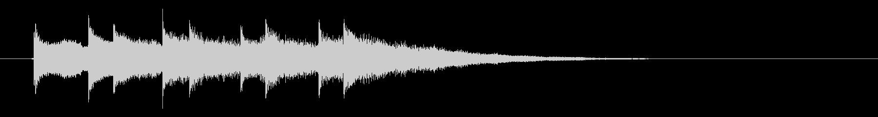 キラキラした金属音が音階を奏でる効果音の未再生の波形