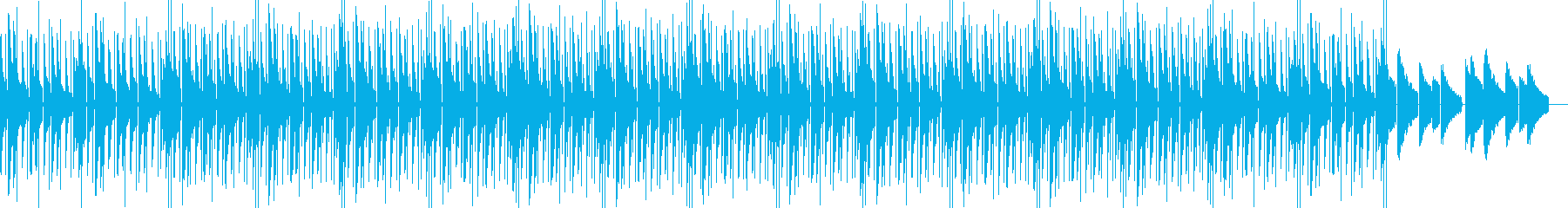 Lo-Fiな音色のHiphopの再生済みの波形