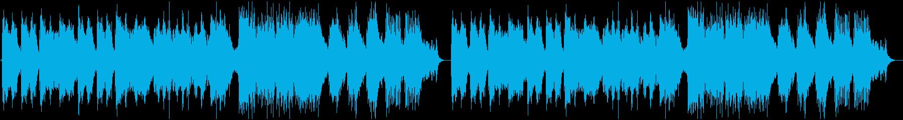 静かな和風ヒーリングの再生済みの波形